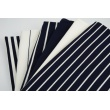 Rib knit fabric, navy stripes 4mm/18mm