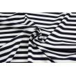 Rib knit fabric, navy stripes 9mm/9mm