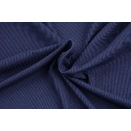 Rib knit fabric, navy