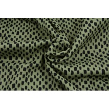 Double gauze 100% cotton thick lines on a dark green background