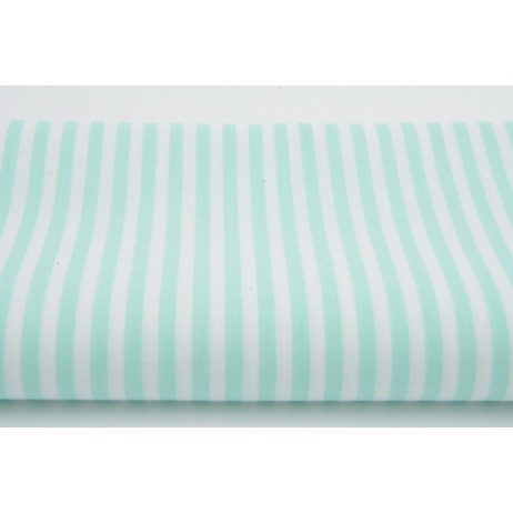 Cotton 100% 3mm mint stripes