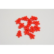 Red Christmas tree button