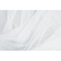 Tiul błyszczący z brokatem biały