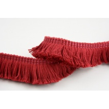 Ribbon with fringes red wine 3cm