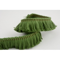 Ribbon with fringes, green 3cm