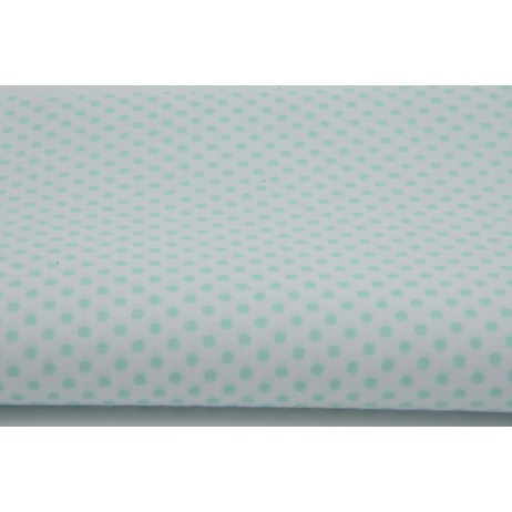 Cotton 100% navy polka dots 3mm on a white background