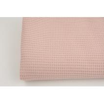 Knitted waffle fabric plain powder pink