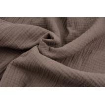 Double gauze 100% cotton plain mocha
