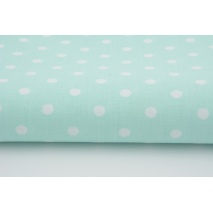 Cotton 100% polka dots 7mm on a mint background