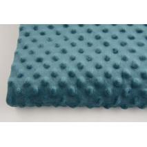 Dimple dot fleece minky in dark azure color 350g/m2