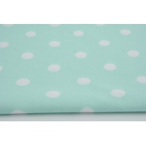 Cotton 100% polka dots 17mm on a mint background