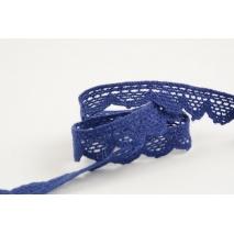 Cotton lace 15mm navy blue