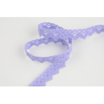 Cotton lace 15mm heather