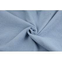 Double gauze 100% cotton plain dirty blue
