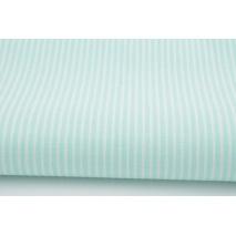 Bawełna miętowe paski 2x1mm na białym tle