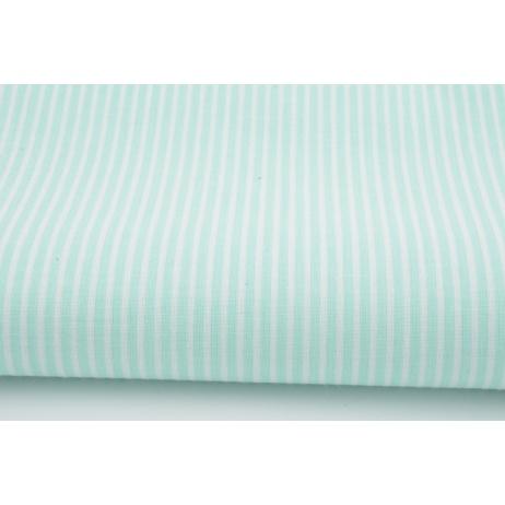 Cotton 100% mint stripes 2mm