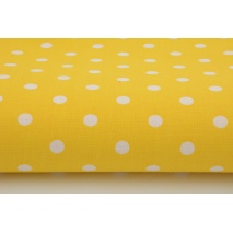 Cotton 100% polka dots 7mm on a yellow background