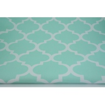 HOME DECOR moroccan trellis on a mint background