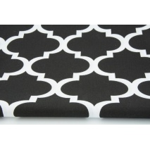 Cotton 100% moroccan trellis on a black background