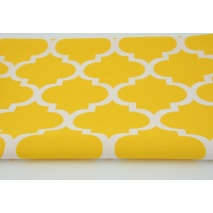 Cotton 100% moroccan trellis on a yellow background