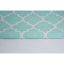 Cotton 100% moroccan trellis on a mint background