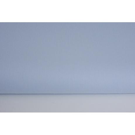 Bawełna prążkowana niebieska jednobarwna