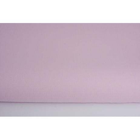 Bawełna prążkowana różowa jednobarwna