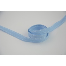 Tasiemka rypsowa błękitna przeszywana 10mm x 1m