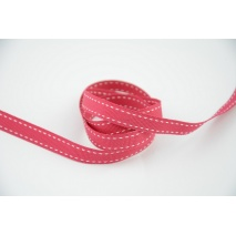 Stitched grosgrain fuchsia ribbon