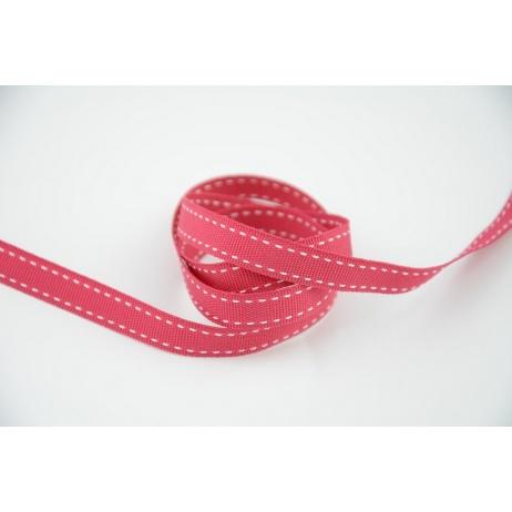 Stitched grosgrain fuchsia ribbon