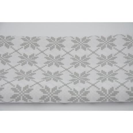 Cotton 100% gray snowflake on white background