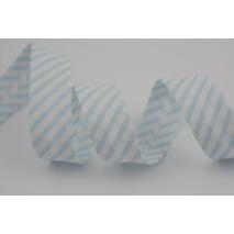 Cotton bias binding blue stripes 18mm
