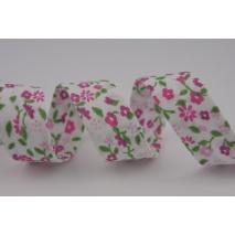 Cotton bias binding pink meadow