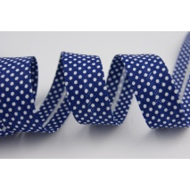Cotton bias binding navy blue dotted