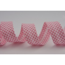 Cotton bias binding pink small check pattern