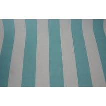 Cotton 100% turquoise stripes 8cm