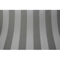 Cotton 100% light gray stripes 8cm