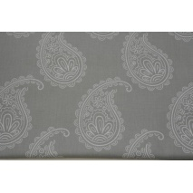 Cotton 100% paisley on a light gray background