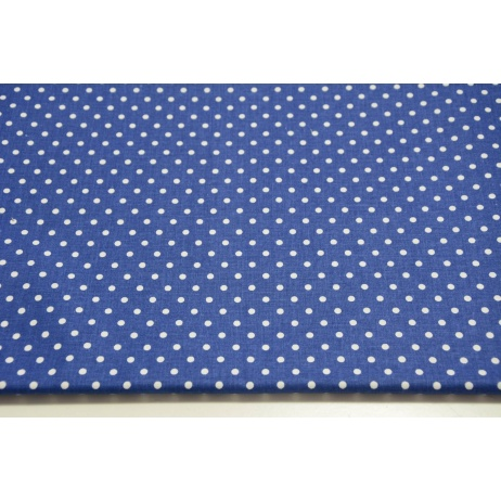 Cotton 100% dots 4mm on a navy background