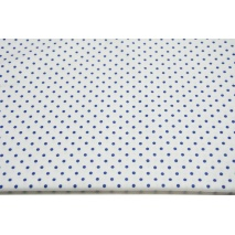 Cotton 100% navy dots 4mm on a white background