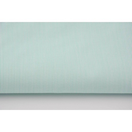 Cotton 100% small mint stripes