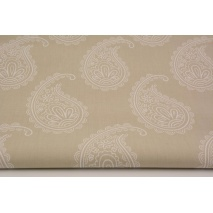Cotton 100% paisley on a beige background