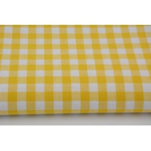 Bawełna 100% żółta kratka vichy, dwustronna 1cm