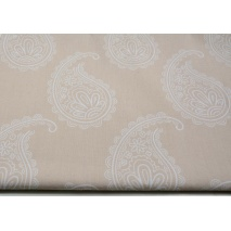 Cotton 100% paisley on lacy pink background