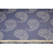 HOME DECOR paisley on a light navy background