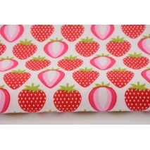 Cotton 100% strawberries on a white background