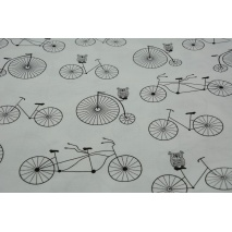 Cotton 100% bicycles on a white background