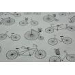 Bawełna 100% rowery na białym tle