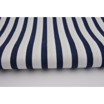 Cotton 100% navy blue stripes 5/10mm