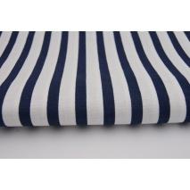 Cotton 100% navy blue stripes 5/10mm
